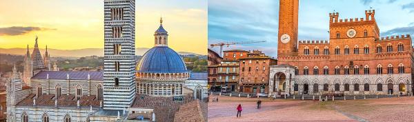 Piazza del Campo e Duomo di Siena